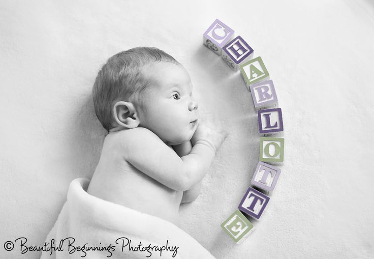 Cute idea for a newborn photo.