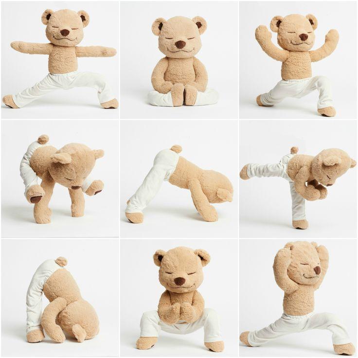 Meddy Teddy is a bendable meditating, yoga and mindfulness teddy bear.