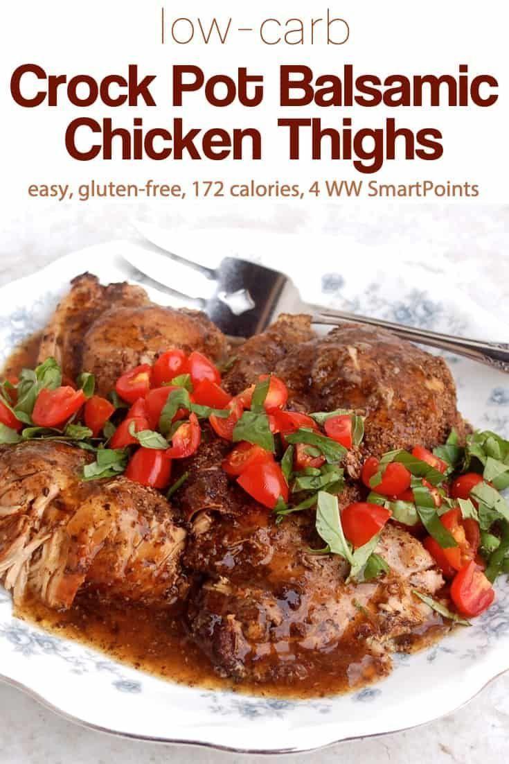 Image result for Balsamic Keto Crock Pot Chicken Thighs