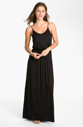 Black maxi knit dress