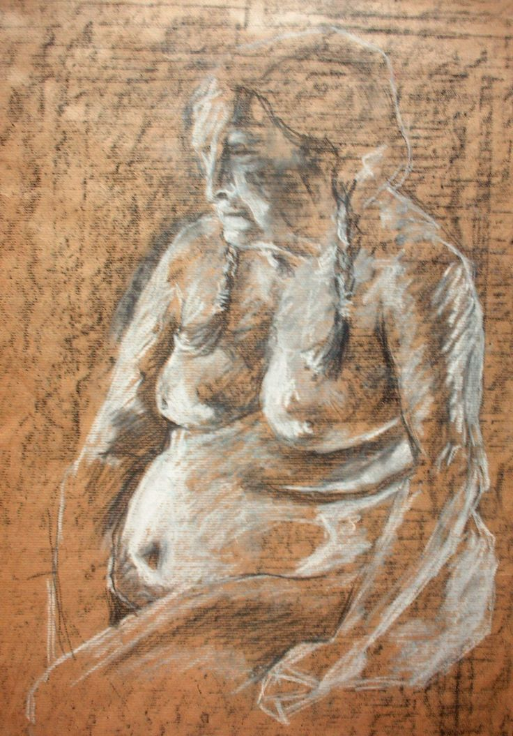 'Indian Woman' charcoal and chalk 2006
