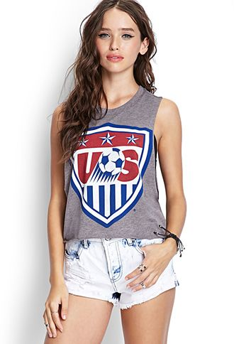 Enjoy the World Cup in this US Soccer Tank from Forever21. #musthave