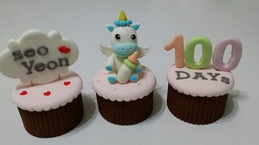 Baby 100days sugar cupcake [COMMA CAKE]