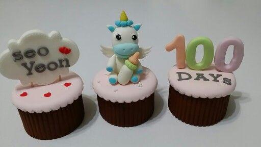 Baby 100days sugar cupcake [COMMA CAKE]