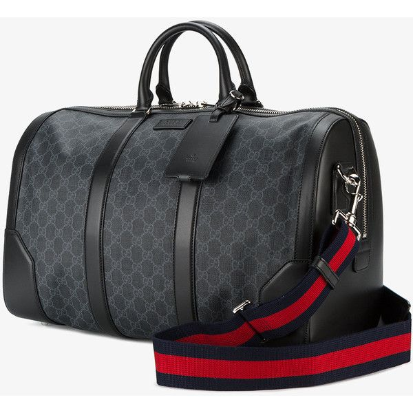 Gucci Monogram Printed Weekend Bag ($1,470) ❤ liked on Polyvore featuring bags and luggage