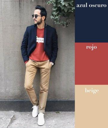 Esta tríada es ideal para balancear tu figura. Mientras que el beige es un básico y el rojo llama la atención, el azul oscuro dará la apariencia de una silueta mucho más slim, sobre todo si la usas en sacos y chamarras.