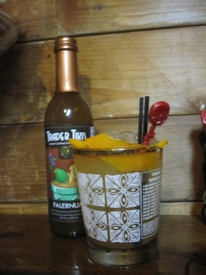 Fluff Punch :: 8 parts Appleton V/X,      3 parts Lime juice,       2 parts Orange Juice,       2 parts B.G.Reynolds' Don's Mix,       1 part B.G.Reynolds' Falernum.   Mix in a large punchbowl with ice to chill, and ladle over more ice to serve.  Garnish with a slice of lime, mint, or anything in a tropical vein that suits your fancy.  (for a single serving, consider 1 part as 1/4 oz). #punch #tiki