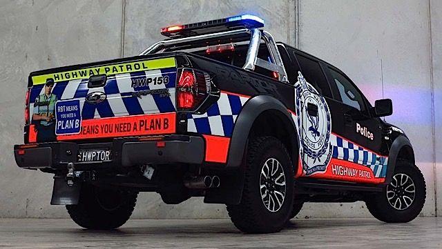 Австралия будет использовать Форд Раптор (Ford Raptor) в полиций