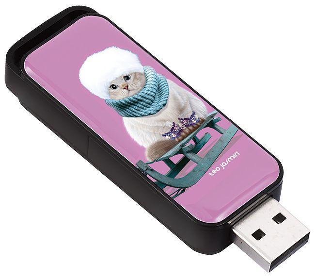 """Clé USB 16 Go Jasmine """"Montréal"""" recto - KeyOuest http://www.keyouest-mobility.com/produits/cle-usb-retractable-16-gb-jasmine-montreal-keyouest/"""