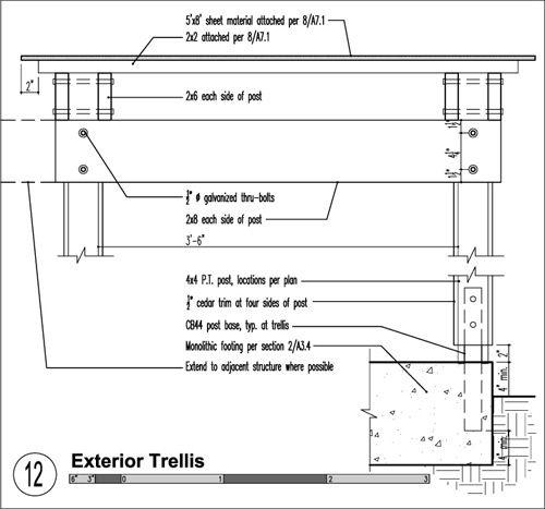 Build Trellis Detail 02 Construction Details Pinterest