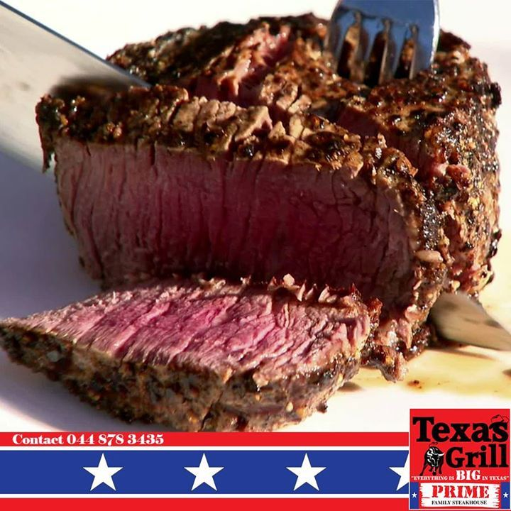 Enjoy a succulent steak while the children play. Every Monday 2 children eat for free with every dining adult. It is a family affair at Texas Grill. #grill #cuisine #steakhouse