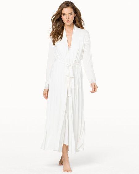 Pure Romance Long Robe Ivory