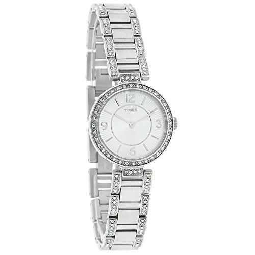Timex Classic Crystal Ladies Stainless Steel Quartz Watch T2P415 >>> You can find out more details at the link of the image.