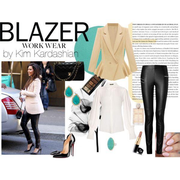 Blazer by Kim by malirybka1989 on Polyvore featuring Alexander McQueen, Joseph, Christian Louboutin, Chanel, Kate Spade, Jamie Joseph, Boohoo and Burberry