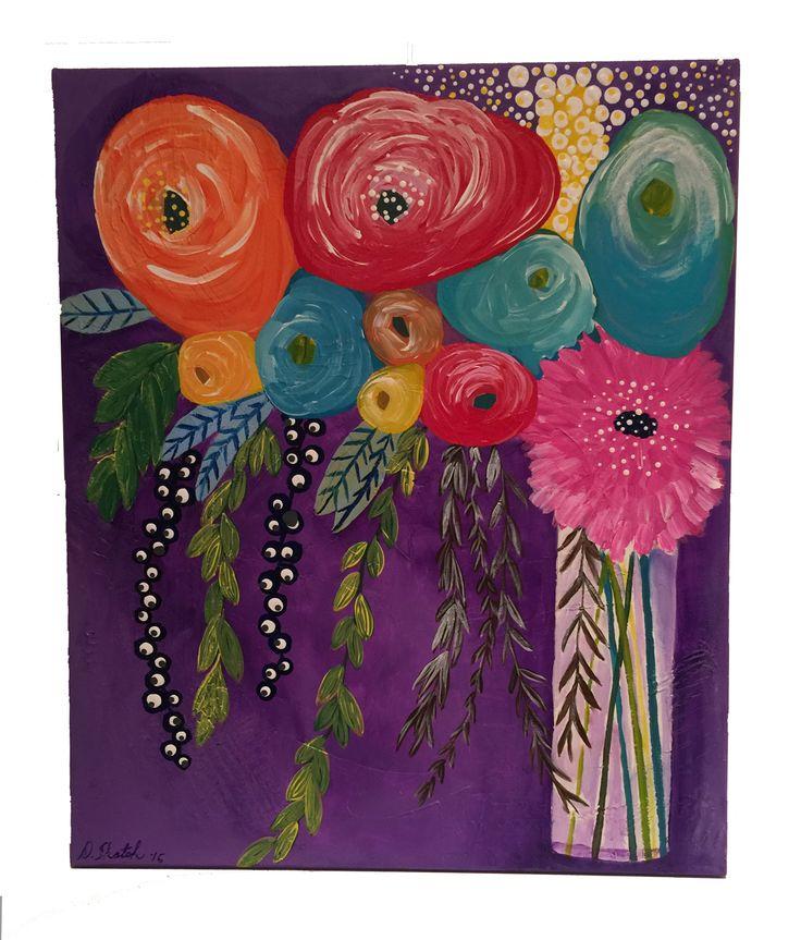 "Abstract Flower Number Thirteen 20"" x 24"" x 3/4"" by Diane Tkatch Found on http://laserspiderart.com"