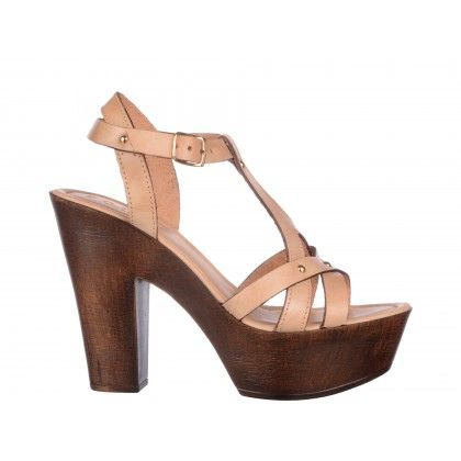 Sandale Epica bej, din piele naturala