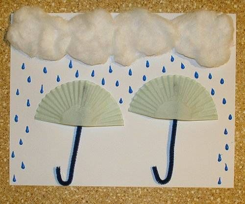 cute spring craft idea from tqn.com Could incorporate math by telling students to draw 6+7 raindrops (or other numbers or math problems depending on grade level)