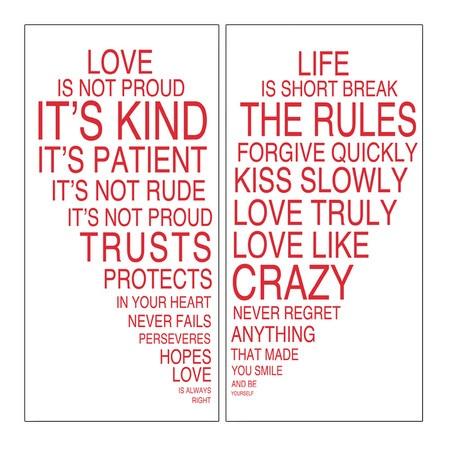 2 Piece Love is Kind Wall Art Set