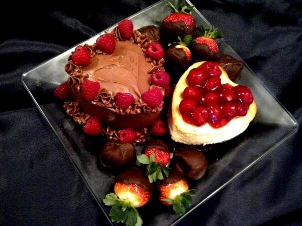 ... with Cherries, Chocolate Dipped Strawberries, and Assorted Truffles