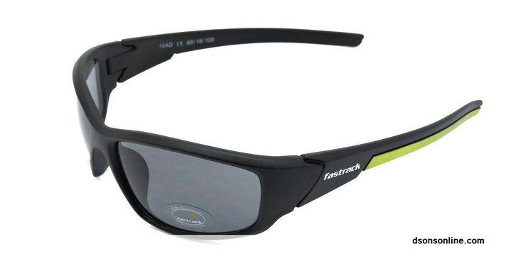 Buy Fastrack Black Men Fiber Rectangle Sunglasses Online Low Price
