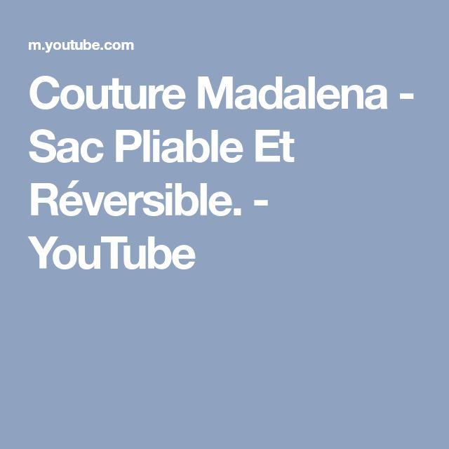 Couture Madalena - Sac Pliable Et Réversible. - YouTube
