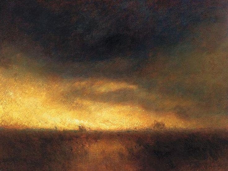 Mednyánszky László 1852-1919 Landscape at Dusk 150×200 cm Oil, canvas Signed lower right: Mednyánszky