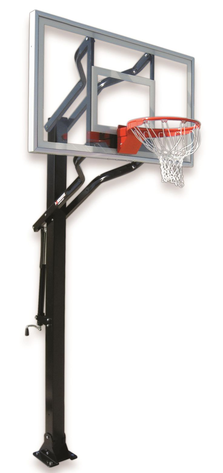 First Team Powerhouse Challenger Turbo In Ground Outdoor Adjustable Basketball  Hoop 54 Inch Tempered Glass