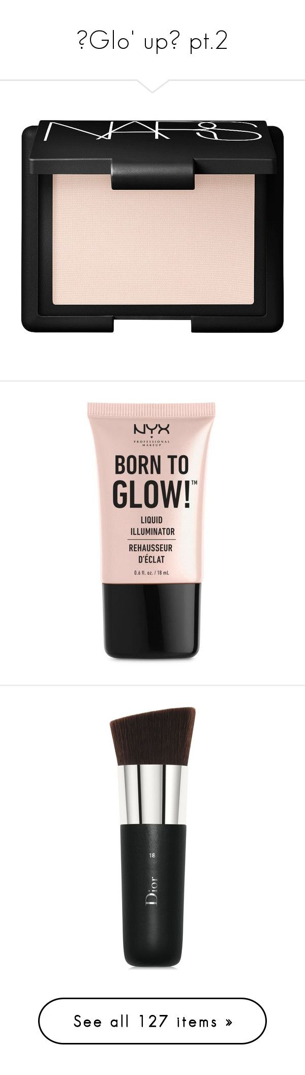 """""""✨Glo' up✨ pt.2"""" by adtricia ❤ liked on Polyvore featuring beauty products, makeup, cheek makeup, blush, beauty, fillers, cosmetics, nars cosmetics, face makeup and nyx cosmetics"""