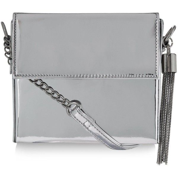 New Look Silver Metallic Shoulder Bag ($20) ❤ liked on Polyvore featuring bags, handbags, shoulder bags, silver, new look handbags, shoulder strap handbags, metallic handbags, shoulder strap purses and shoulder handbags