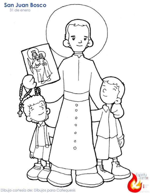 San Juan Bosco St John Bosco Don Bosco Catholic Coloring
