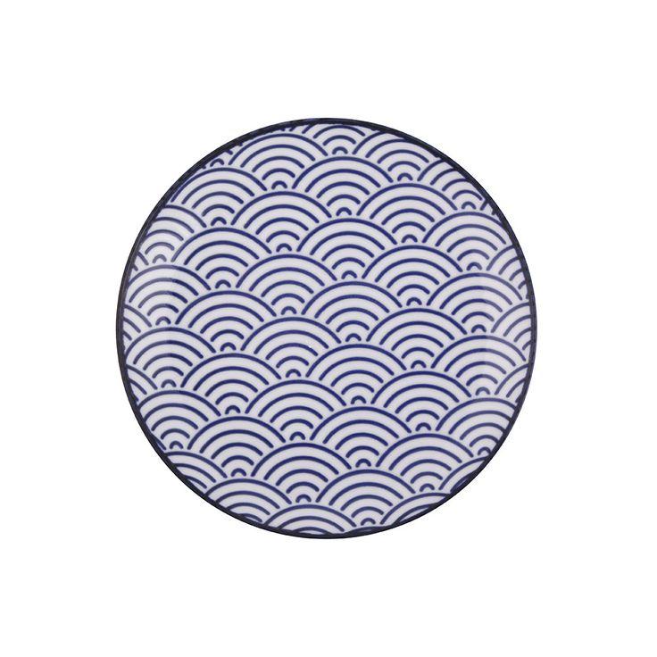 Buy Tokyo Design Studio Nippon Blue Side Plate - Wave   Amara