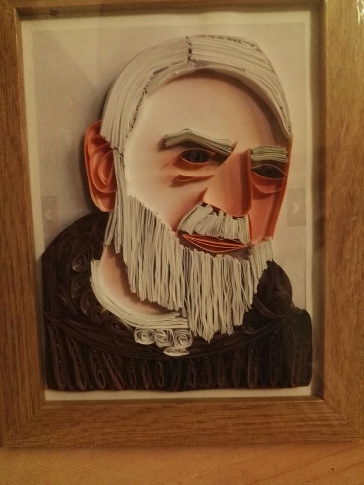 Padre Pio quillingpicture by  me
