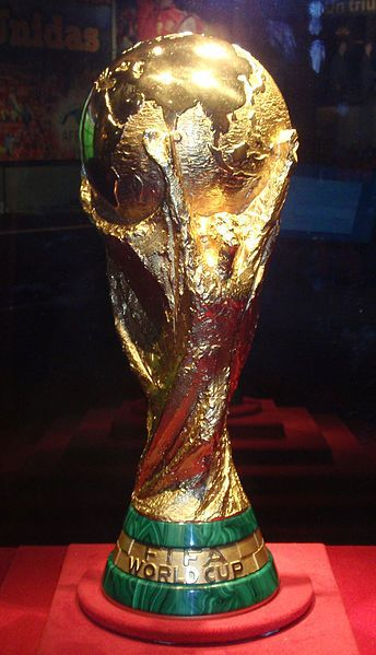 The fifa world cup awarded to the winner of the competition. Could encorporate into logo design.