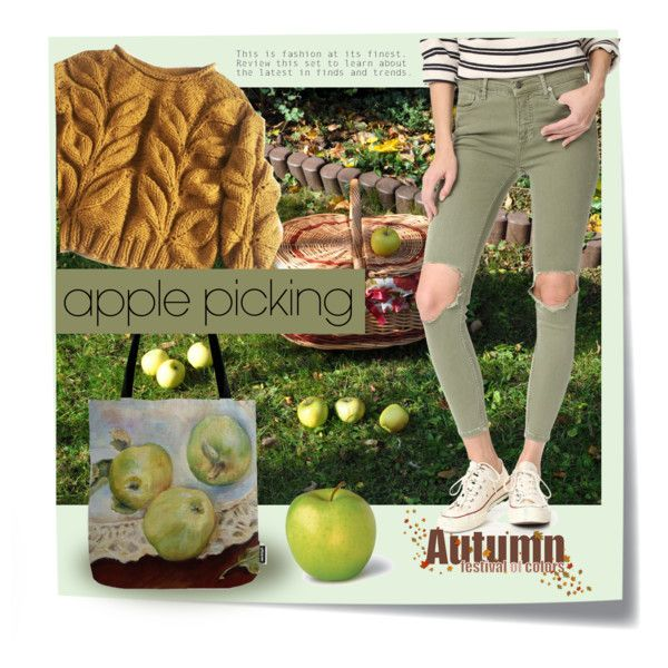 Green apple. A fashion look from October 2017 by canisartstudio featuring Free People i Post-It