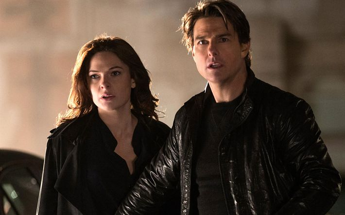 Download wallpapers Ilsa Faust, Ethan Hunt, 2018 movie, Mission Impossible 6, Tom Cruise, Rebecca Ferguson