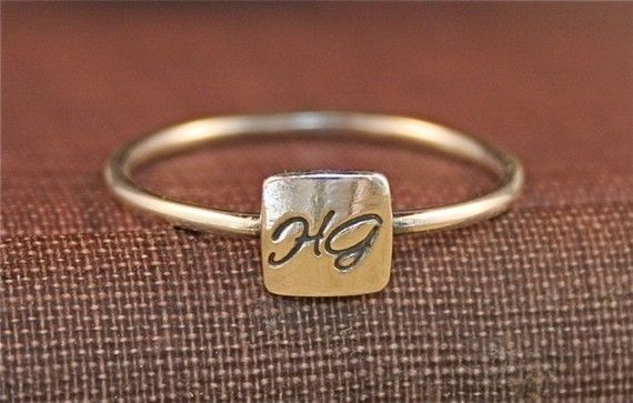 Tiny Signet Ring, personalizedRings Personalized, Initials Rings, Jewelry, Tiny Personalized, Personalized Signet, Accessories, G S Style, Signet Rings, Tiny Signet