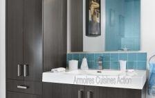 Vanité de salle de bain :  Corail noir