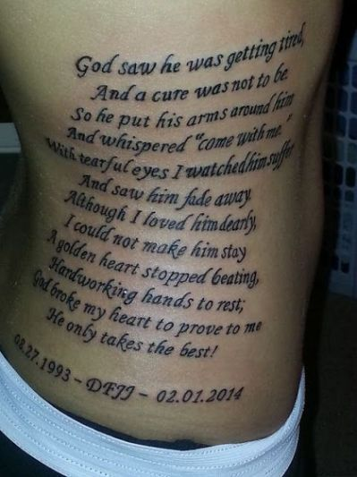 Top 25+ best Remembrance tattoos