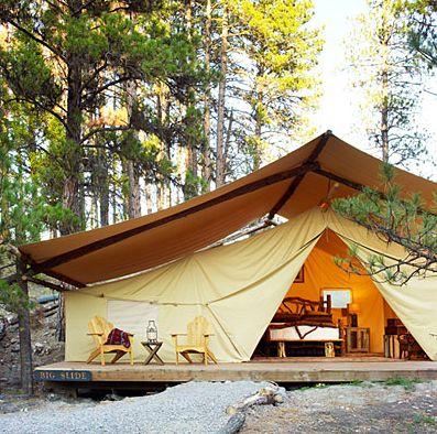 Luxury tent camping at Lakedale Resort, San Juan Island