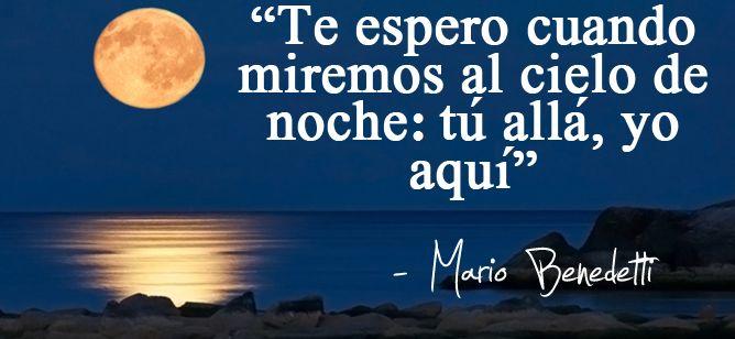 Te espero. Mario Benedetti.