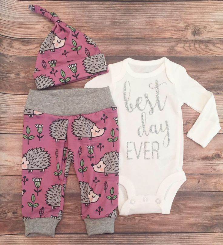 Purple Porcupine Best Day Ever Going Home Outfit, Best Day Ever, READY TO SHIP, Newborn Girl Outfit, Silver Glitter, Newborn Coming Home by JosieandJames on Etsy https://www.etsy.com/listing/554046218/purple-porcupine-best-day-ever-going