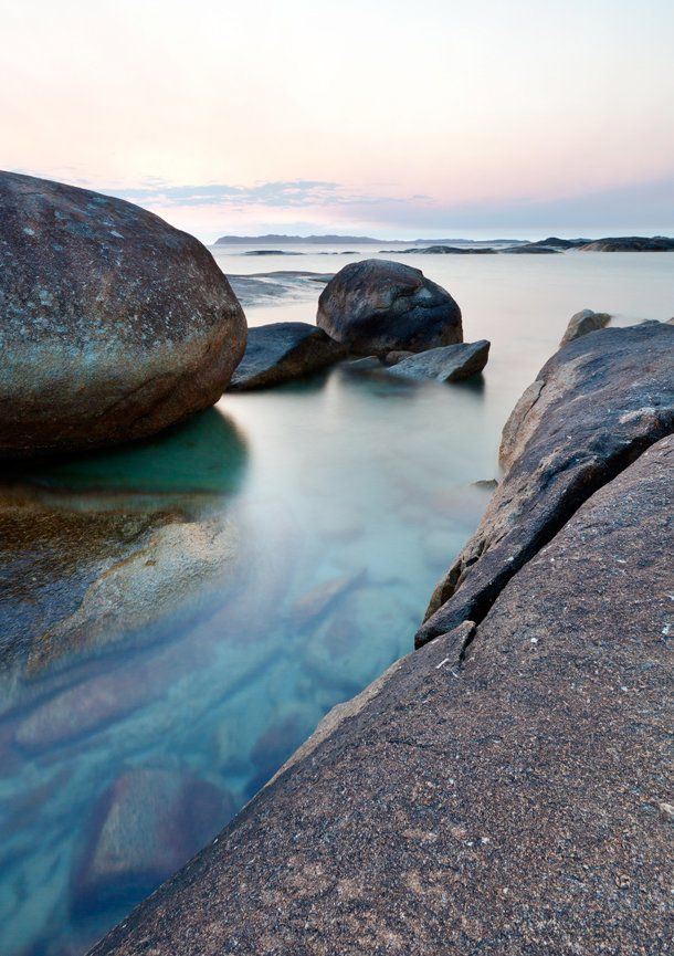 On the rocks at Greens Pool, Denmark Western Australia.