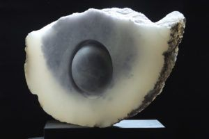 Luna Nuvolosa III 2, by Mel Fraser, contemporary stone sculpture