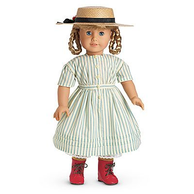 Kirsten's Summer Dress and Straw Hat. Boots sold separately.