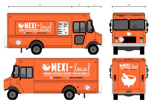 30 food truck design inspiration that make hungry for Food truck layout plans