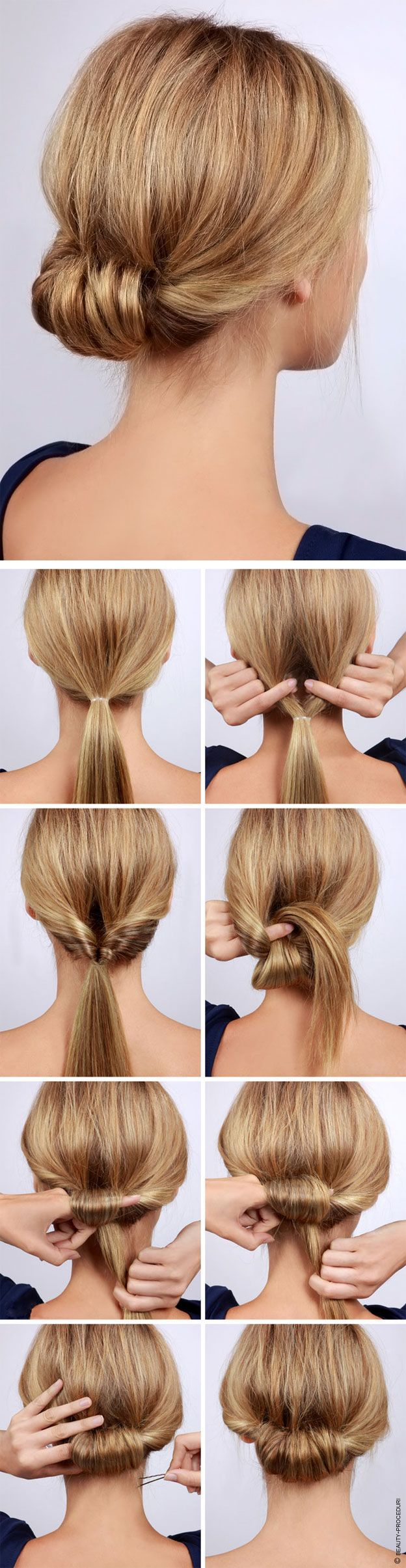 How-To: Low Rolled Updo Hair Tutorial