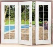 kitchen triple hinged french doors i would love these doors to open from the - French Patio Doors