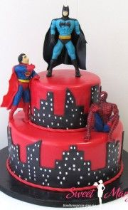 082d. Торт Супергерои