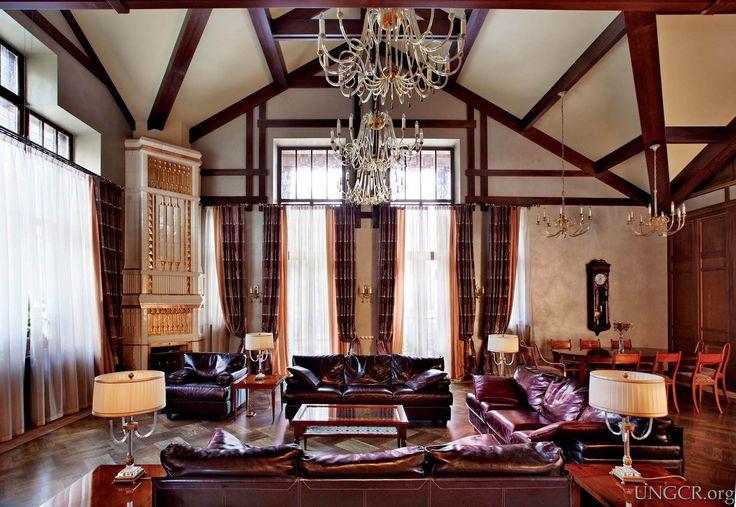 ТОП роскошных интерьеров России / Роскошные интерьеры российских олигархов, эксклюзивная мебель, элитные квартиры, стиль шале