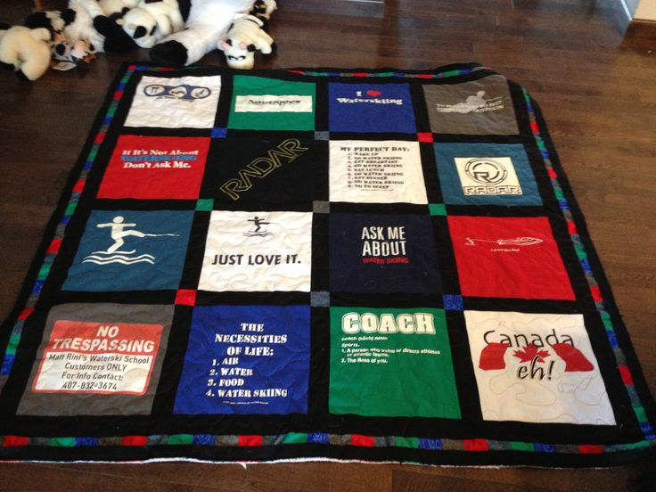 t-shirt quilt i made for a gift